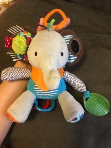赤ちゃん お出かけ用 外出用 おもちゃ 動物 ゾウ