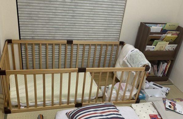 ベビーサークル ベビーベッド 代用 赤ちゃん