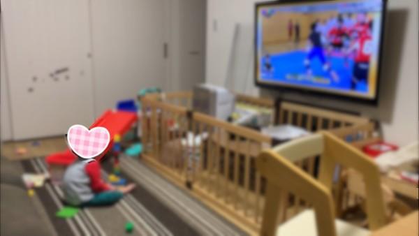 ベビーサークル テレビ前 ガード