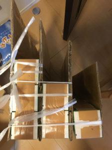 牛乳パック ダンボール 段ボール 絵本棚 作り方