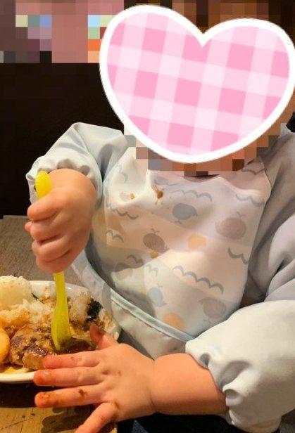 食事用エプロン ビブ 比較 使い比べ 油が取れるエプロン 長袖