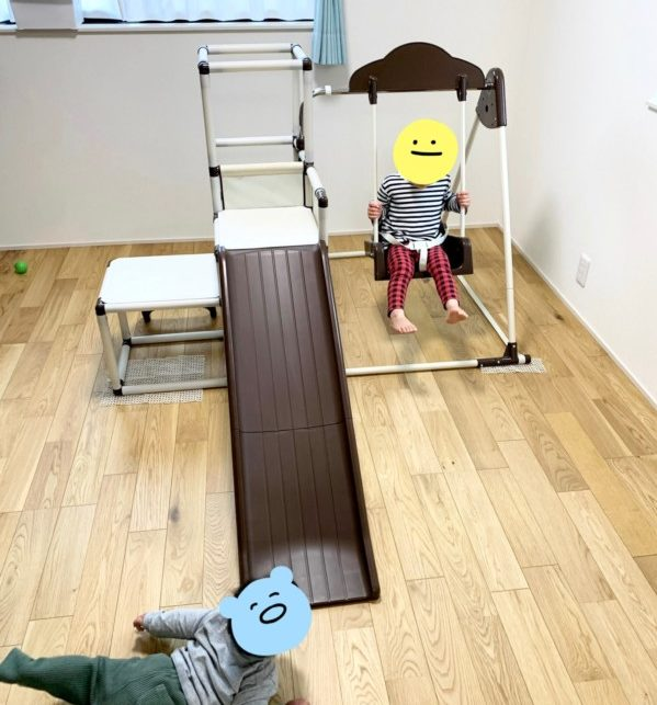 キッズパーク ロングスロープ 室内 滑り台 鉄棒 ジャングルジム 遊具